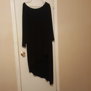 Black asymmetrical dress/tunic